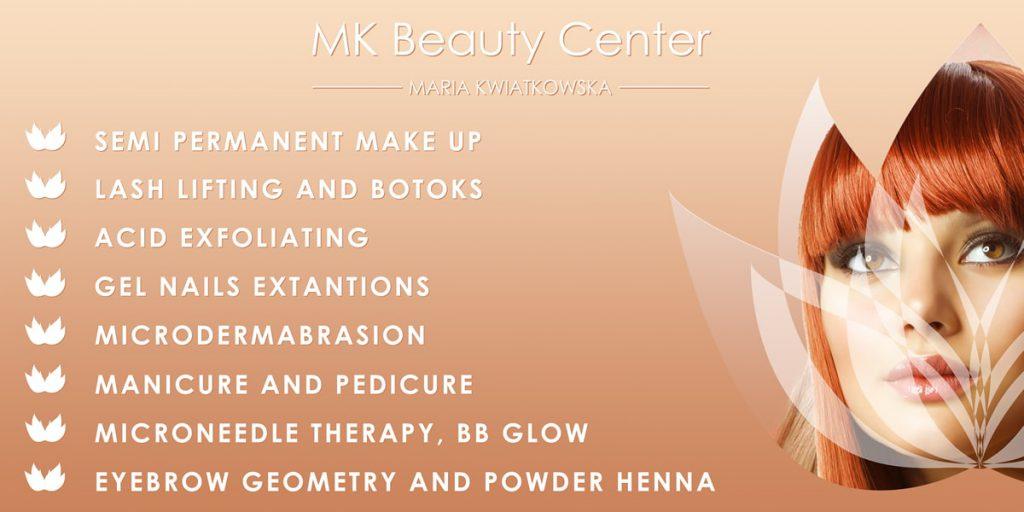 BANNER MK Beauty Cente - Projektowanie banerów Zbigniew Biba W.Gdynia