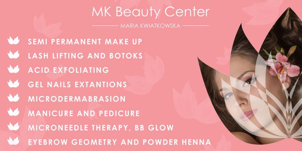 BANNER MK Beauty Cente - Projektowanie banerów Zbigniew Biba W. Gdynia
