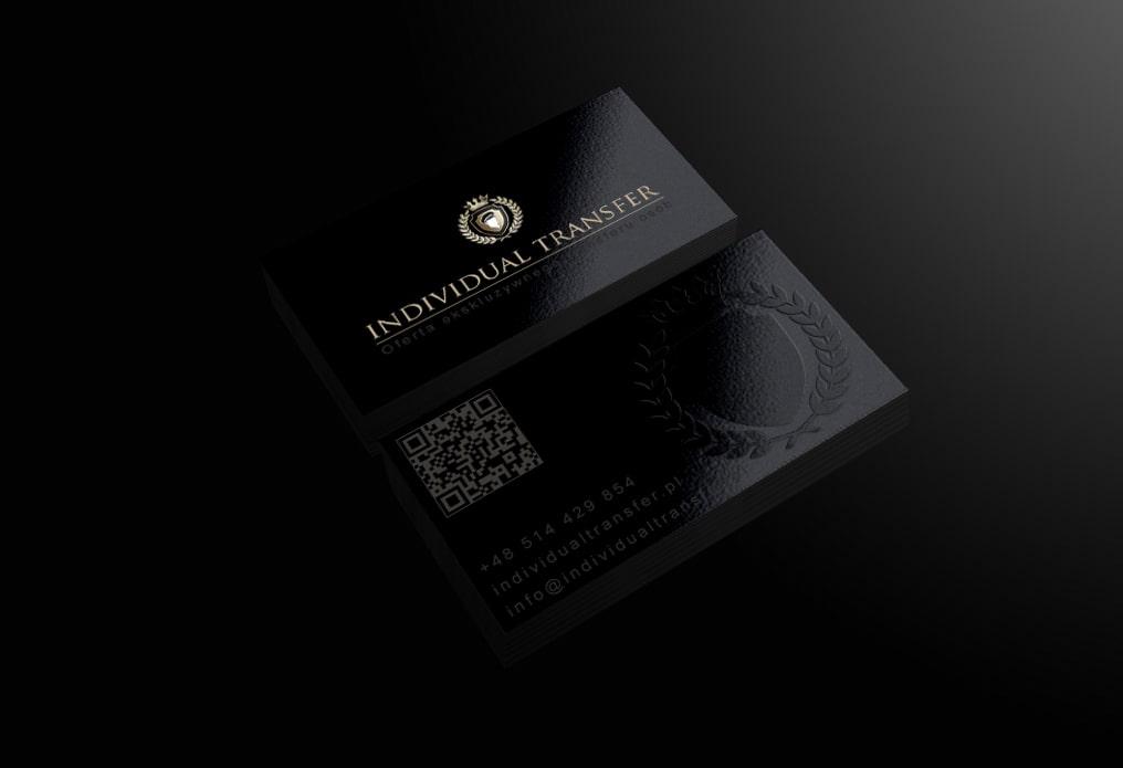 """Wizytówki dla firmy """"Individual Transfer"""" – Oferta ekskluzywnego transferu osób."""