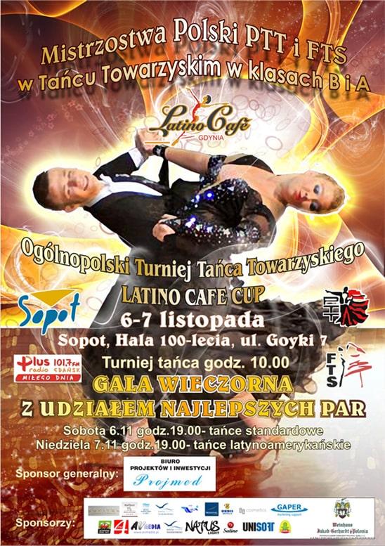 Projekt plakatu Ogólnopolskiego turnieju tańca towarzyskiego